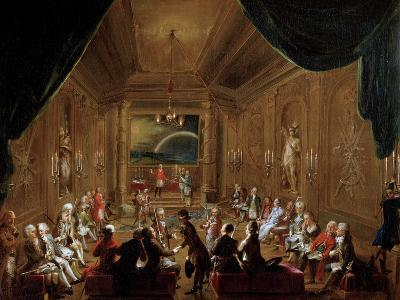 Initiation Ceremony in a Viennese Masonic Lodge