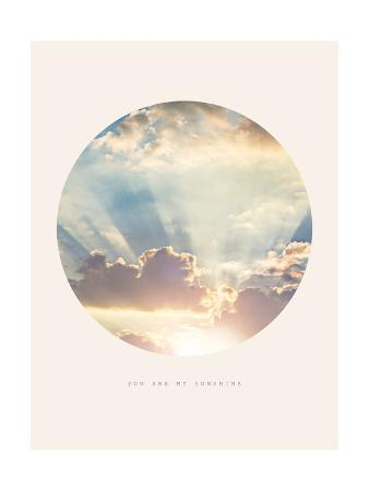 Inspirational Circle Design - Clouds: You are my Sunshine