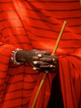 Maasai Teacher, Esetiti Nursery School, Amboseli National Park, Kenya