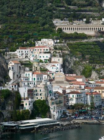Town View with Harbor, Amalfi, Amalfi Coast, Campania, Italy