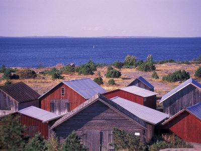 Boathouses of the Aland Islands, Finland