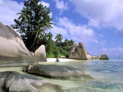 Granite Outcrops, La Digue Island, Seychelles, Africa