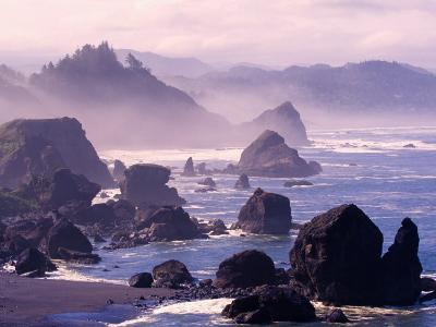Morning Mist along Oregon Coast near Nesika, Oregon, USA
