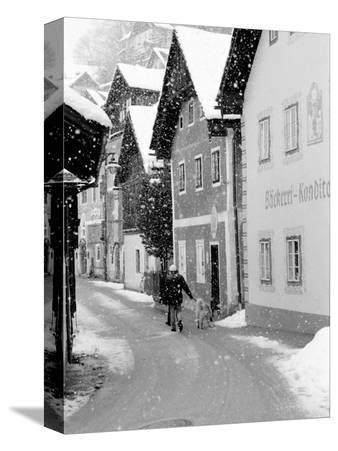 Snowy Street in Hallstat, Austria