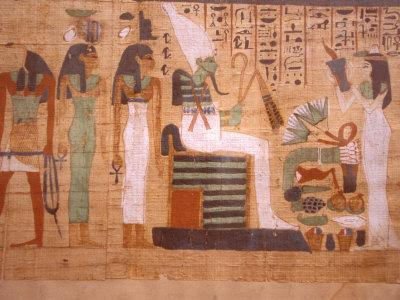 Ancient Papyrus, Cairo Museum of Egyptian Antiquities, Cairo, Egypt