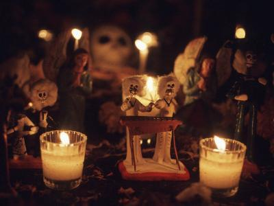 Day of the Dead Night Vigil Details, Oaxaca, Mexico