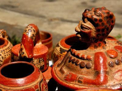 Replicas of Mayan Pottery For Sale, Joya de Ceren, El Salvador