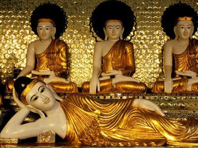 Reclining Buddha, Shwedagon Pagoda, Yangon, Myanmar