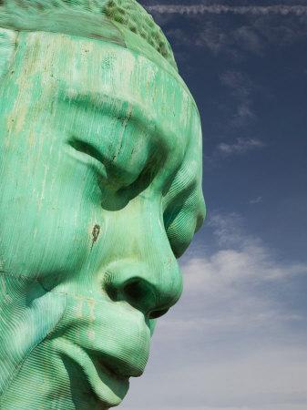 Bust of Jazz Great Charlie Yardbird Parker, Historic Jazz District, Kansas City, Missouri, USA