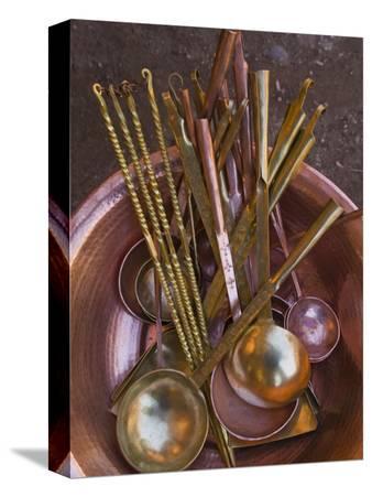 Metal spoons, Lijiang Market, Lijiang, Yunnan Province, China