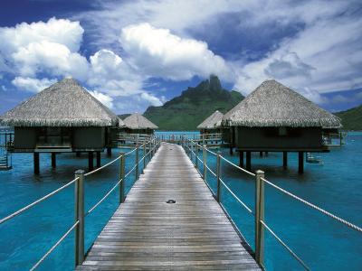 Bora Bora Nui Resort bungalows, Moto Toopua, French Polynesia