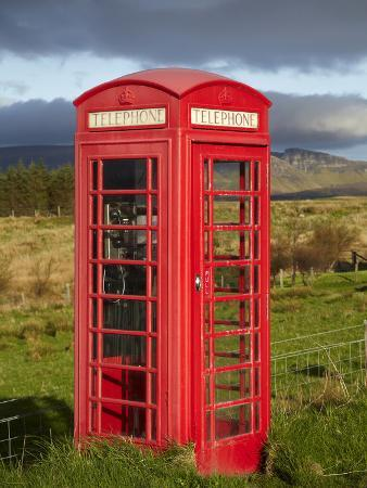 Public Phone Box, Ellishadder, Near Staffin, Trotternish Peninsula, Isle of Skye, Scotland