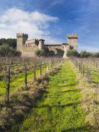 Reproduction of Italian Castle, Castello Di Amoroso Winery, Calistoga, Napa Valley, California, Usa