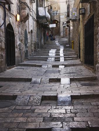 Ancient Street in the Old Town, Jerusalem, Israel