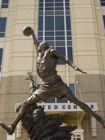 Michael Jordan statue at the United Center, Chicago, Illinois, USA