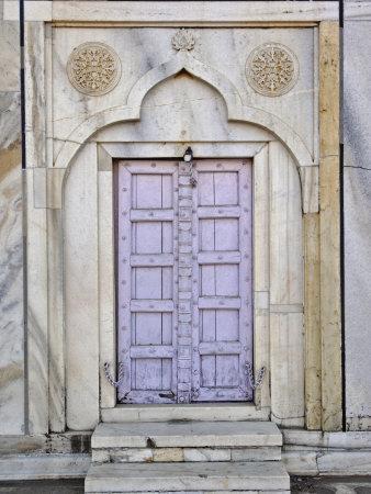 Lavender colored door, Taj Mahal, Agra, India
