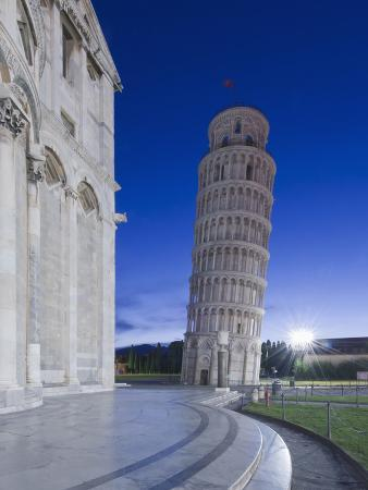 Leaning Tower of Pisa at Dawn, Pisa, Italy