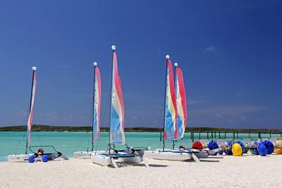 Sailing Rentals, Beach, Castaway Cay, Bahamas, Caribbean