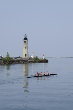 Buffalo Lighthouse, 1833, Us Coast Guard Base, Lake Erie, Buffalo, New York, USA