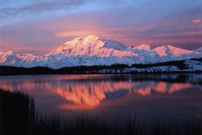 Lake with Mt McKinley, Denali National Park and Preserve, Alaska, USA