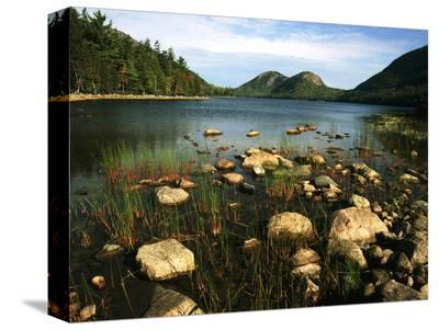 Jordan Pond and the Bubbles Mountain, Acadia National Park, Maine, USA