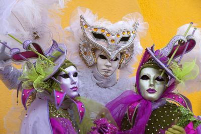 Elaborate Costumes for Carnival Festival, Venice, Italy