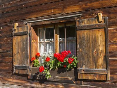 Traditional Window with Planter, Tyrol, Austria