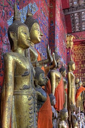 Statues of Buddha Inside Buddhist Temple, Luang Prabang, Laos