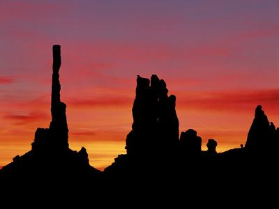 Rock Formations of Monument Valley, Navajo Nation Usa