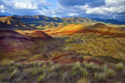 Landscape of the Painted Hills, Oregon, USA