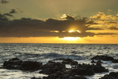 Scenic of Ocean Sunset, Kihe, Maui, Hawaii, USA