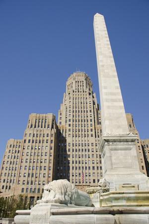 Historic City Hall, McKinley Monument Obelisk, Buffalo, New York, USA