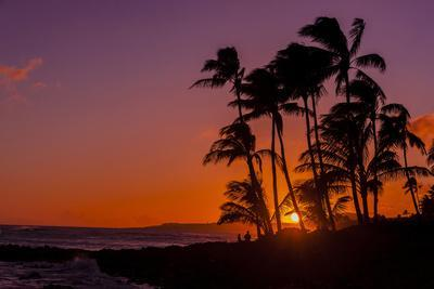 Sunset at Poipu Beach, Kauai, Hawaii, USA
