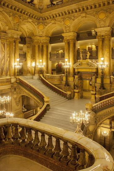 grand entrance decoration.htm grand staircase entry to palais garnier opera house  paris  france  palais garnier opera house