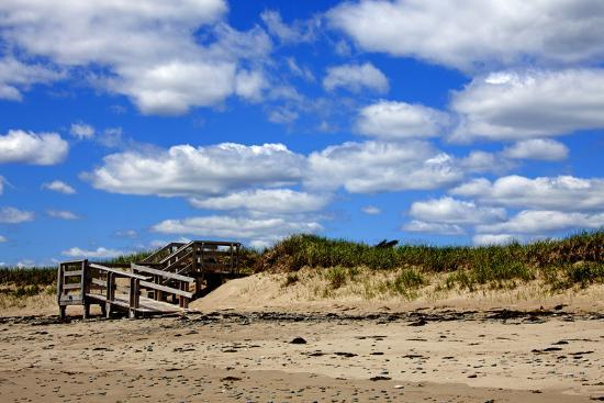 Boardwalk at Martinique Beach, Nova Scotia, Canada