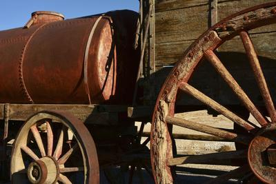 Mule Train Wagon, Harmony Borax Works, Death Valley, California, USA