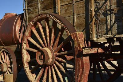 Mule Train Wagon, Harmony Borax Works, Death Valley, California, USA
