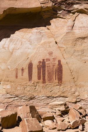 Utah, Canyonlands, Horseshoe Canyon, Great Gallery, Petroglyphs