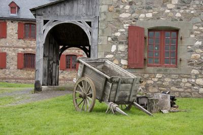 Canada, Nova Scotia, Louisbourg. Fortress of Louisbourg. Wooden Wagon