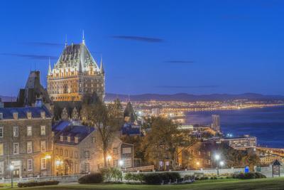 Canada, Quebec, Quebec City, Old Town at Twilight