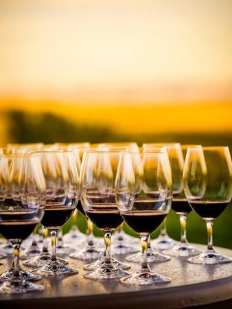 USA, Washington, Walla Walla. Tasting at Winery in Wine Country