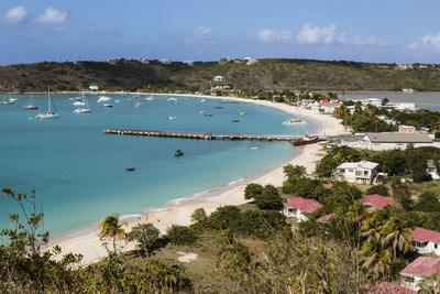 Caribbean, Anguilla. View of Boats in Harbor