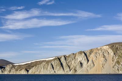 Russia, Chukotka, Provideniya, View of Cliff and Sea