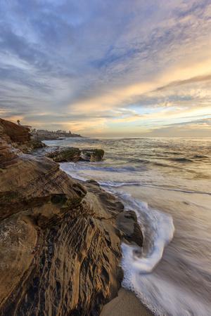 Sunset at Windansea Beach in La Jolla, Ca