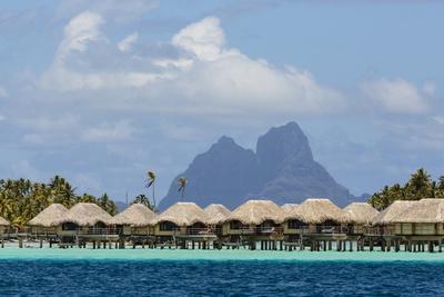 French Polynesia, Society Islands, Motu Tautau. Stilted Hotel Suites