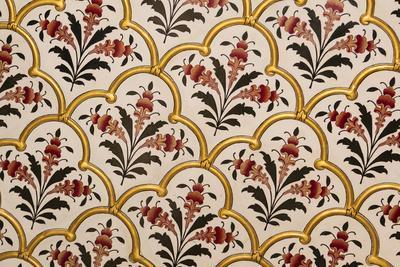 India, Rajasthan, Bikaner. Painting in Weather Palace in Junagarh Fort