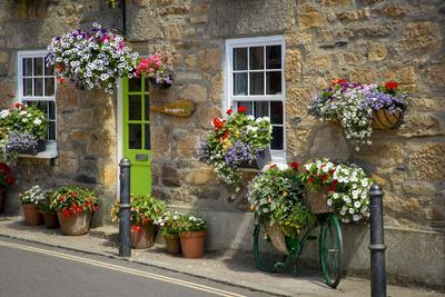 Entrance to Smugglers Bed and Breakfast in Marazion, Cornwall, England