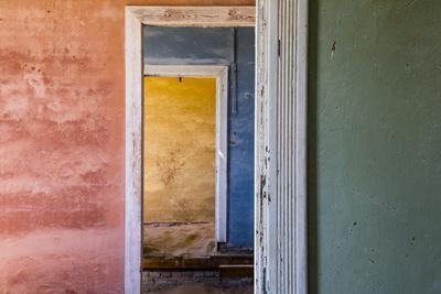 Africa, Namibia, Kolmanskop. Interior of Deserted Home