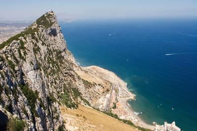 The Rock of Gibraltar Overlooking the Atlantic Ocean