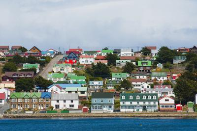 Falkland Islands. Stanley. View from the Water